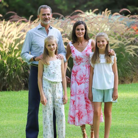 König Felipe, Königin Letizia mit Prinzessin Leonor undPrinzessin Sofia