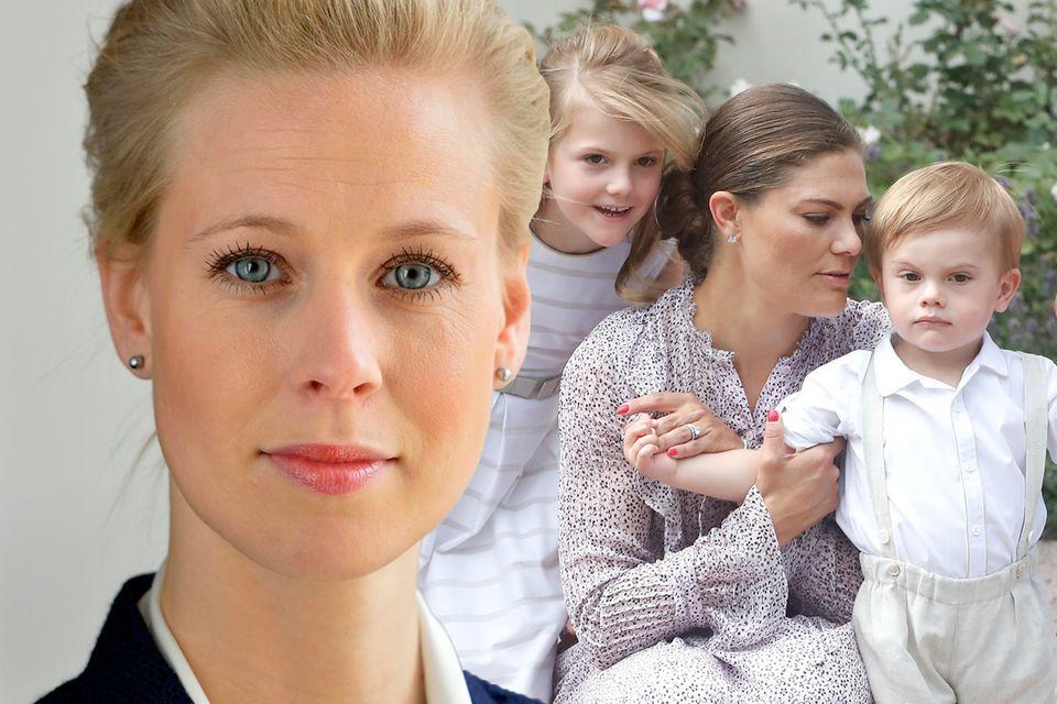 Karolin Johansson, Prinzessin Estelle, Prinzessin Victoria und Prinz Oscar