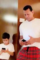 Alex Rodriguez und Sohn Max