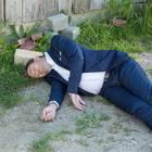 """""""Sturm der Liebe"""": Christoph (Dieter Bach) liegt bewusstlos am Boden."""