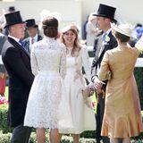 Auch zu ihrem Cousin William und seiner Frau Catherine pflegen die Töchter von Prinz Andrew und Sarah Ferguson ein enges Verhältnis. Bei öffentlichen Auftritten wird getuschelt, gelacht und sich unterhalten.