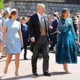 Am Tag der Hochzeit von Prinz Harry und Herzogin Meghan erscheinen Eugenie und Beatrice mit Prinz Andrew, in Windsor. Beide haben ein enges Verhältnis zu ihrem Vater, der sich 1996 von Sarah Ferguson scheiden ließ.