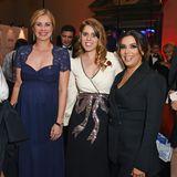 """Auch Hollywood-Stars wie Eva Longoria (ganz rechts) kennenPrinzessin Beatrice und lassen sich mit dem Royal fotografieren –hier bei der """"Global Gift Gala"""" in London."""