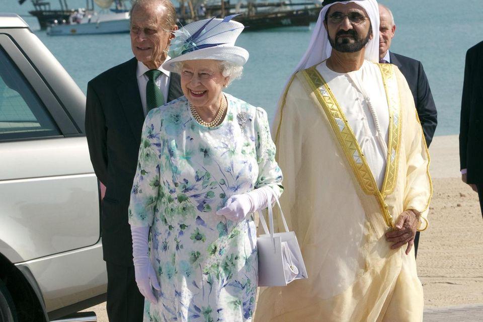 Prinz Philip und Queen Elizabeth im November 2010 zu Gast bei Scheich Mohammed in Dubai.