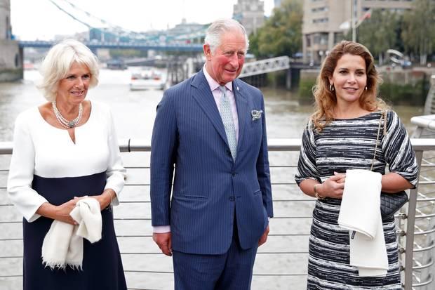 Herzogin Camilla (l.), Prinz Charles (Mitte) und Prinzessin Haya im September 2018 in London.