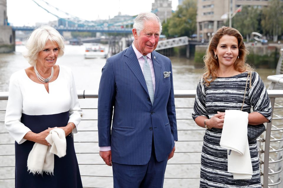 Herzogin Camilla (l.), Prinz Charles (Mitte) und Prinzessin Haya im September 2018 in London.