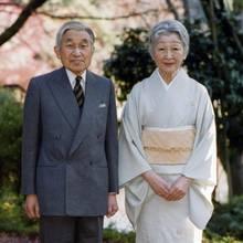 Das Ex-Kaiserpaar von Japan, Akihito und Michiko