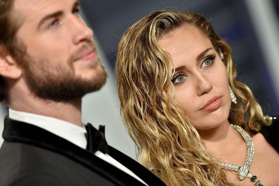 Liam Hemsworth und Miley Cyrus.