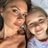 11. August 2019  Victoria Beckham und Tochter Harper genießen ihren Urlaub und zur Schlafenszeit noch ein paar Kuscheleinheiten extra. Gute Nacht!