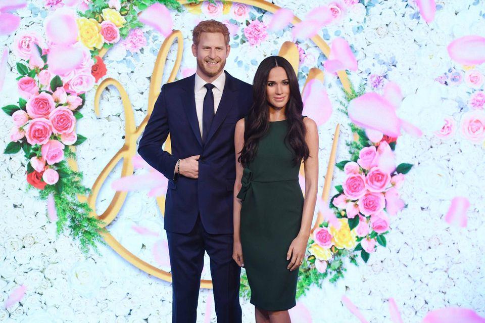 Prinz Harry und Herzogin Meghan als Wachsfiguren bei Madame Tussauds