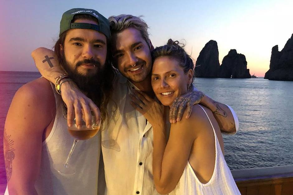 Tom Kaulitz, Bill Kaulitz und Heidi Klum