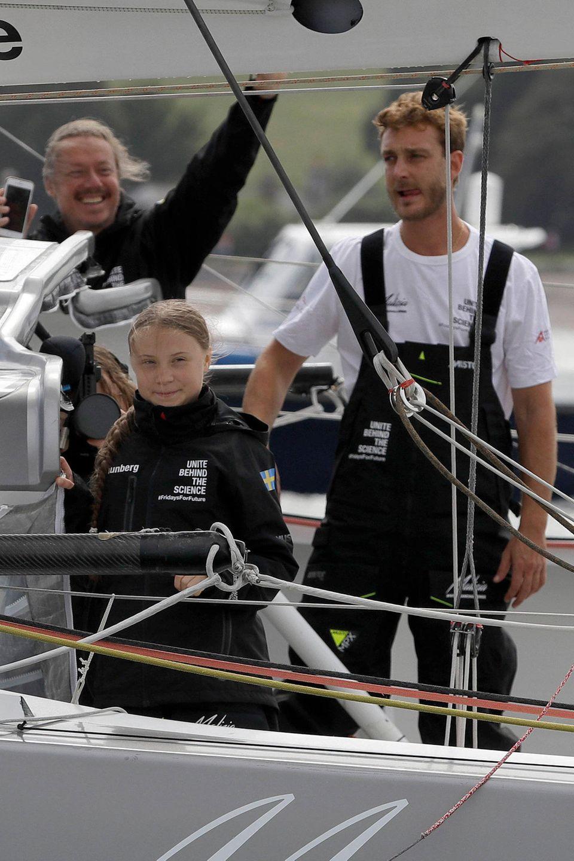 Greta Thurnberg und Pierre Casiraghi