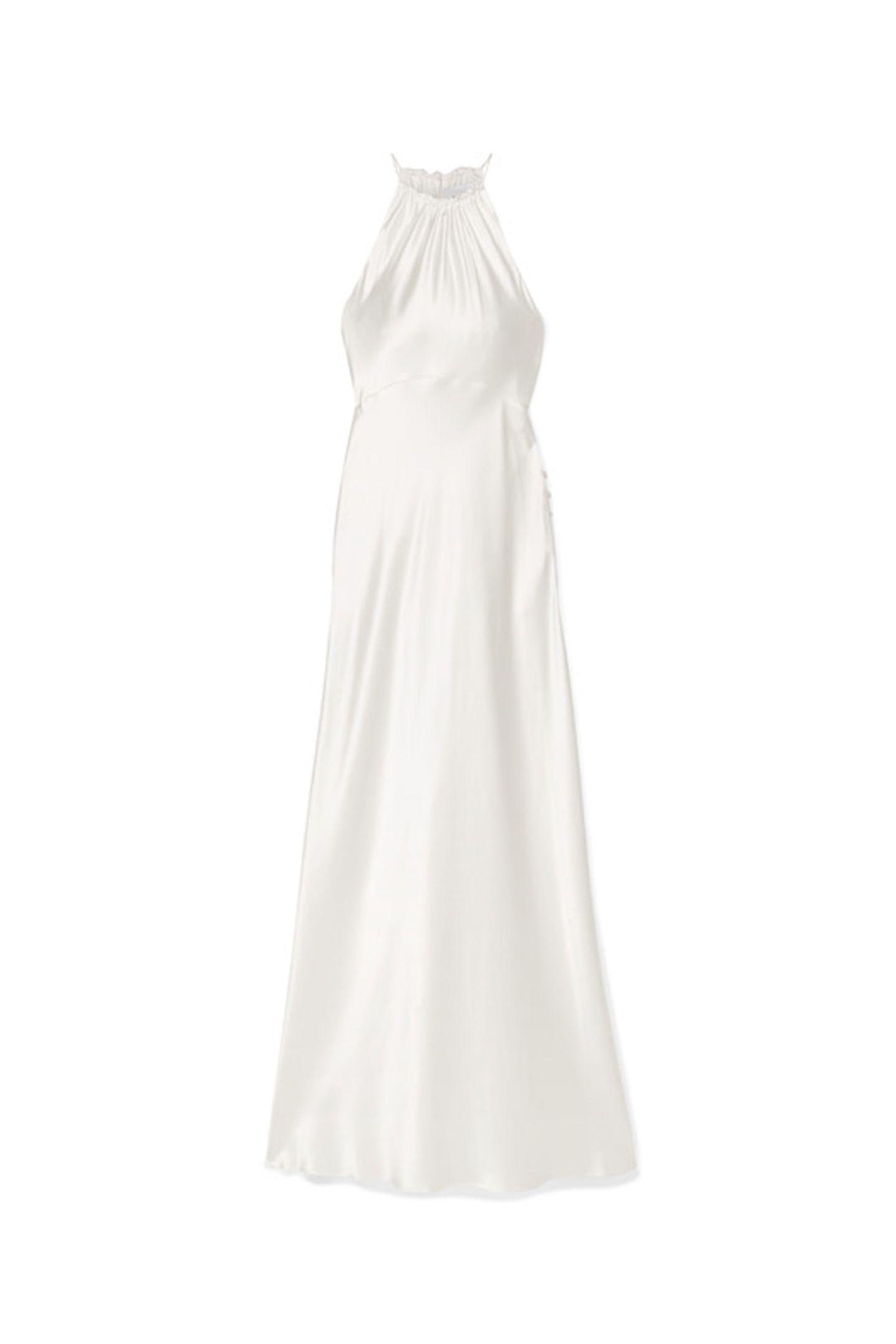 Verlängern Sie das Hochzeitshoch und werden Sie zum Star des Candle-Light-Dinners mit diesem elegantenNeckholder-Dress.Seidenkleid vonLes Rêveries überNet-a-Porter, ca. 1030 Euro