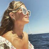 Volle Fahrt voraus: Im Golf von Neapel genießt Heidi mit Tom ihren Honeymoon.