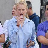 Beim Bummel durch den New Yorker Stadtteil SoHo sieht man Sophie Turner mit einerE-Zigarette.