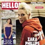 """2011: Zara Tindall erscheint einen Monat nach der Hochzeit mit Mike Tindallauf dem Magazin der britischen """"Hello""""."""