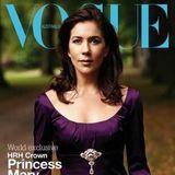 2004: Prinzessin Mary von Dänemark erschien im Jahr 2004, kurz nachdem sie Prinz Frederik das Ja-Wort gegeben hat,auf dem Cover der australischen Vogue.