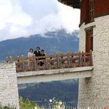 Im Rahmen ihrer offiziellen Reise besucht die japanische Kronprinzenfamilie auch das Nationalmuseum von Bhutan, das sich in einem alten Wachturm befindet.