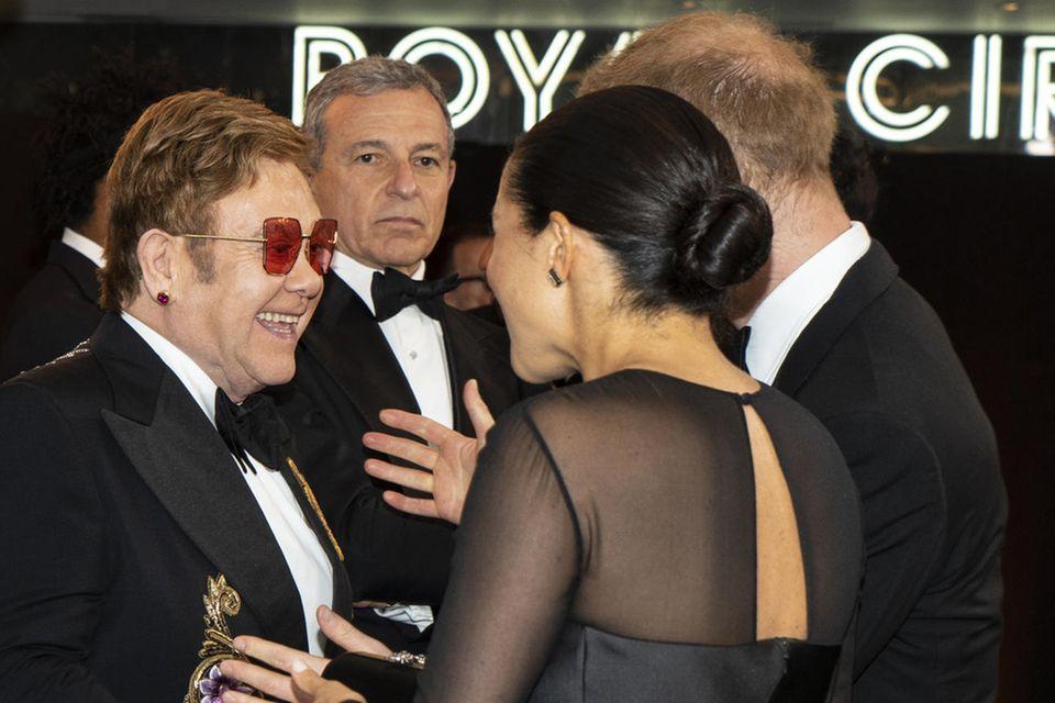 Elton John, Herzogin Meghan und Prinz Harry