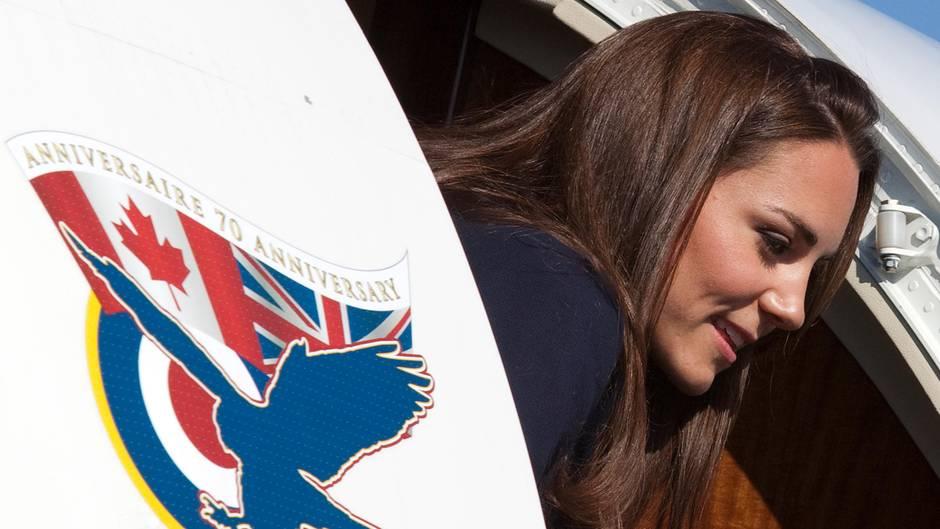 Herzogin Catherine: Sie lehnt ein Upgrade in die erste Klasse ab