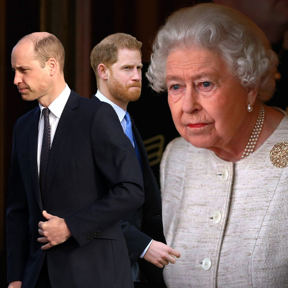 Prinz William, Prinz Harry und Queen Elizabeth