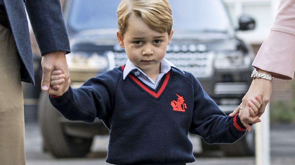 Prinz George am Tag seiner Einschulung