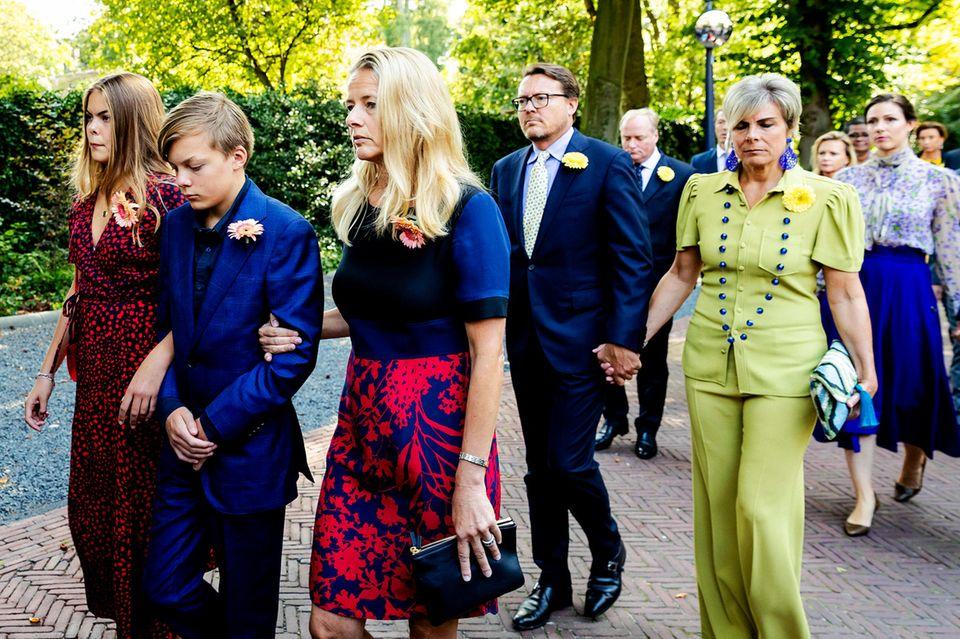 Gräfin Eloise, Graf Claus-Casimar, Prinzessin Mabel, Prinz Constantijn und Prinzessin Laurentien.