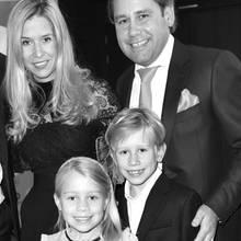 August Inselkammer und Frau Christina mit den Kindern Max und Sophie