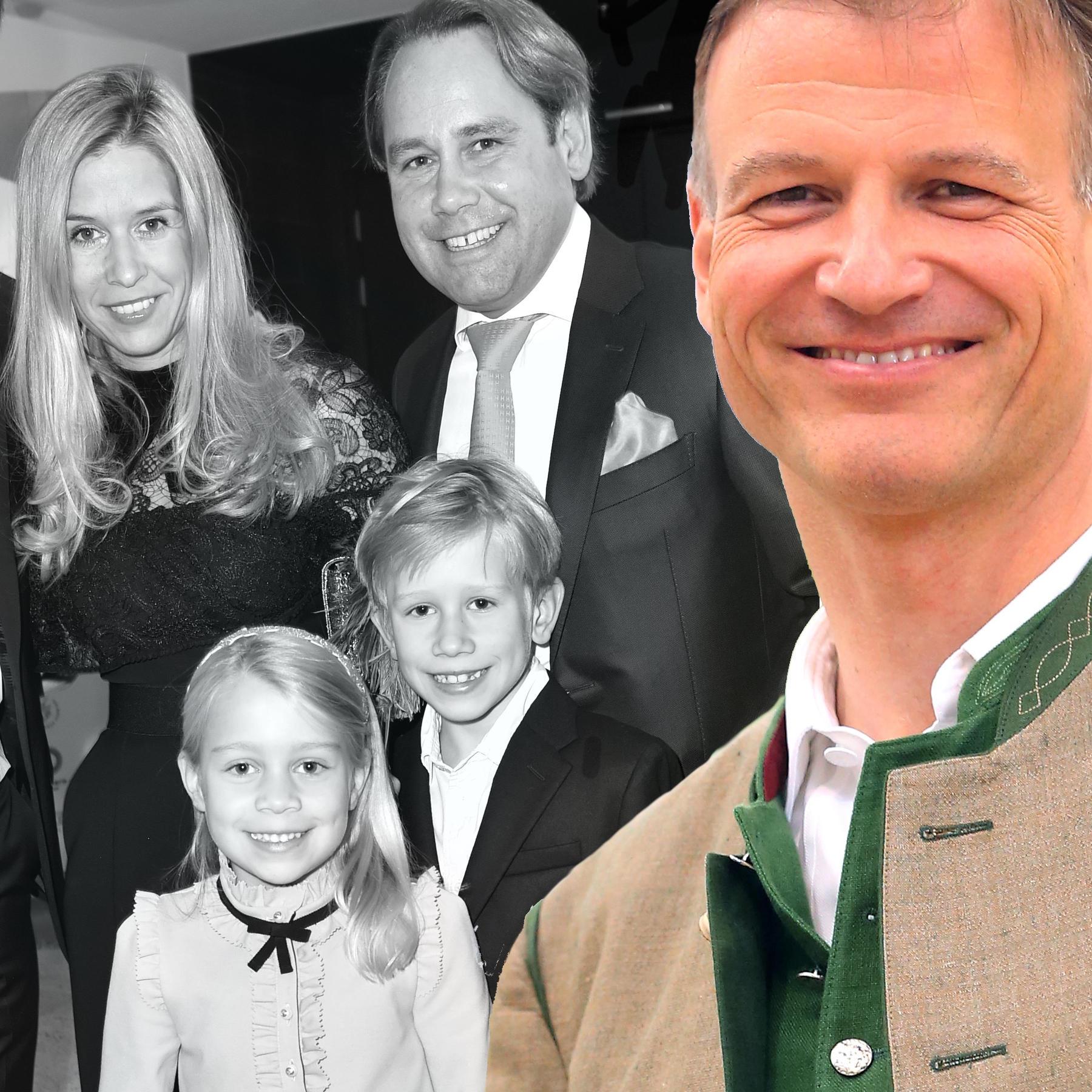 Familie Inselkammer: Christina Inselkammer,August Inselkammer jr., die Kinder Max und Sophie Inselkammer und Yannik Inselkammer