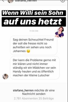 """Das Sommerhaus der Stars"" : Willi Herrens Sohn droht Johannes Haller"