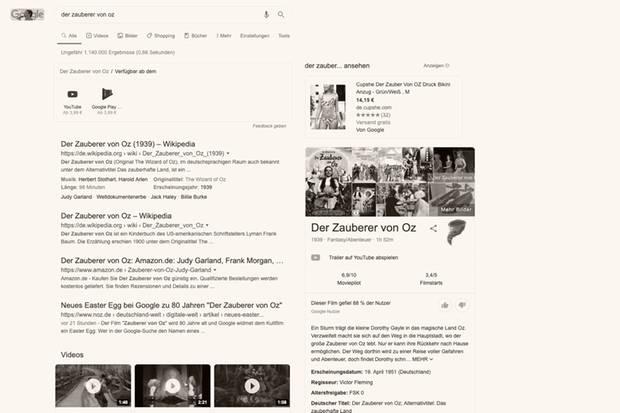 """Google verwandelt sich im """"Zauberer von Oz""""-Stil"""