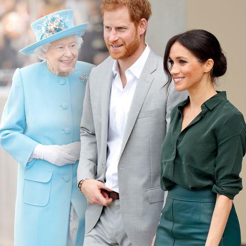 Queen Elizabeth, Prinz Harry und Herzogin Meghan