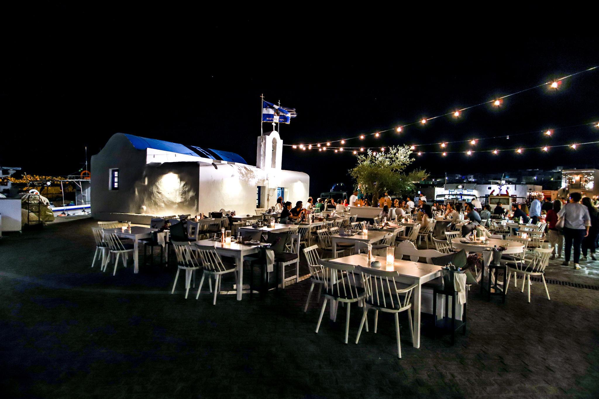 Griechische Gastlichkeit in Santorini