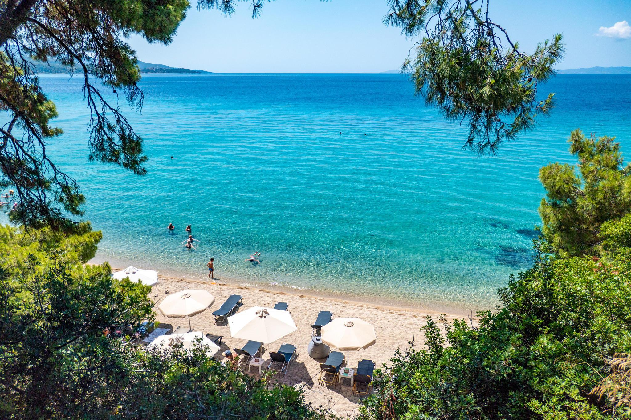 Malerische Buchten wie hier inChalkidiki zeichnen Griechenland aus.