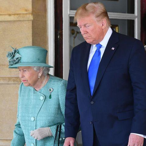 Queen Elizabeth erhielt im Juni Besuch von Donald und Melania Trump