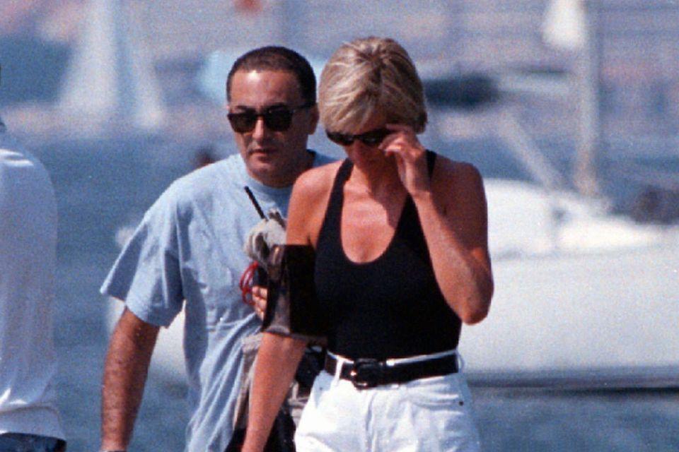Dodi Al Fayed und Prinzessin Diana am 22. August 1997 in St. Tropez