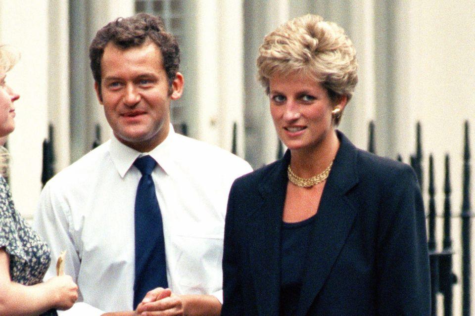 Paul Burrell arbeitete von 1976 bis 1997 für die britische Königsfamilie. Das Foto zeigt ihn und Prinzessin Diana im Jahr 1994.