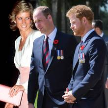 Prinzessin Diana, Prinz William und Prinz Harry