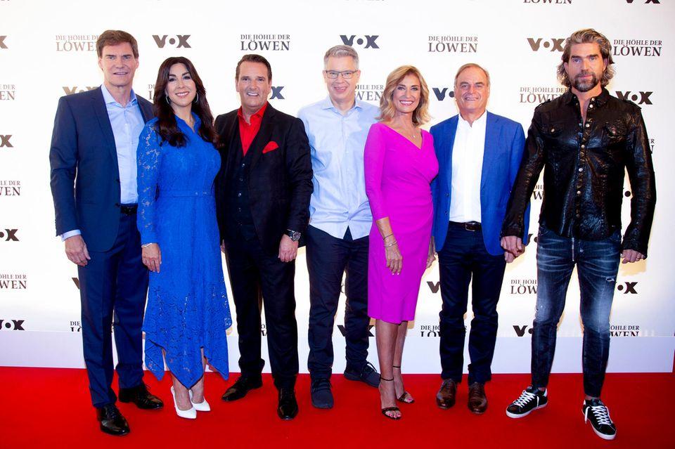 Carsten Maschmeyer, Judith Williams, Ralf Dümmel, Frank Thelen, Dagmar Wöhrl, Georg Kofler and Nils Glagau