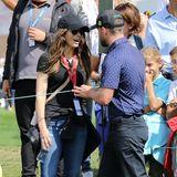 28. August 2019  Ehefrau Jessica Biel hat zur Unterstützung die richtige Laune für ein gutes Spiel mitgebracht.