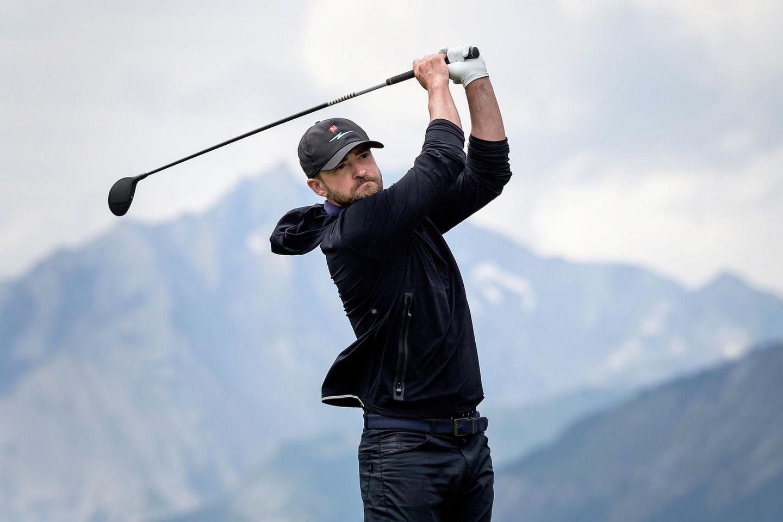 28. August 2019  Vor atemberaubender Kulisse derWalliser Alpen in der Schweiz beweist Justin Timberlake sein Können im Golfsport. Zu den Omega European Masters hat er sogar seine ganze Familie mitgebracht.