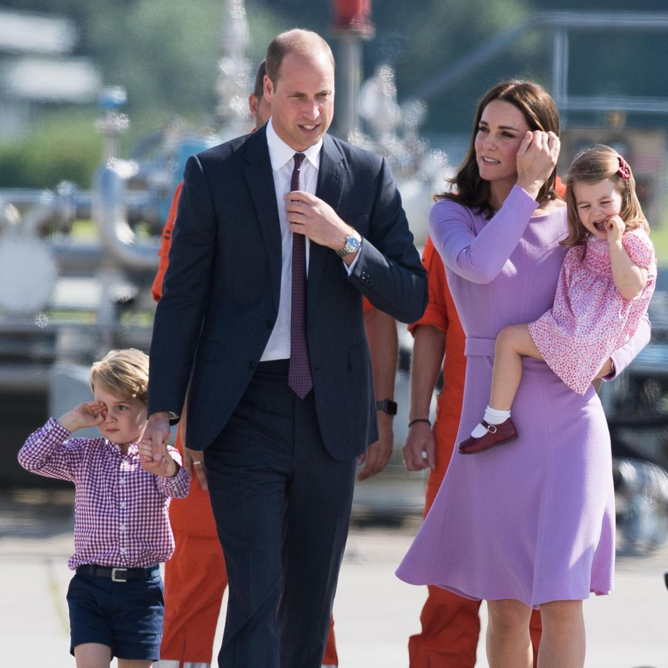 Die Familie Cambridge (v.l.n.r.): Prinz George, Prinz William, Herzogin Catherine und Prinzessin Charlotte