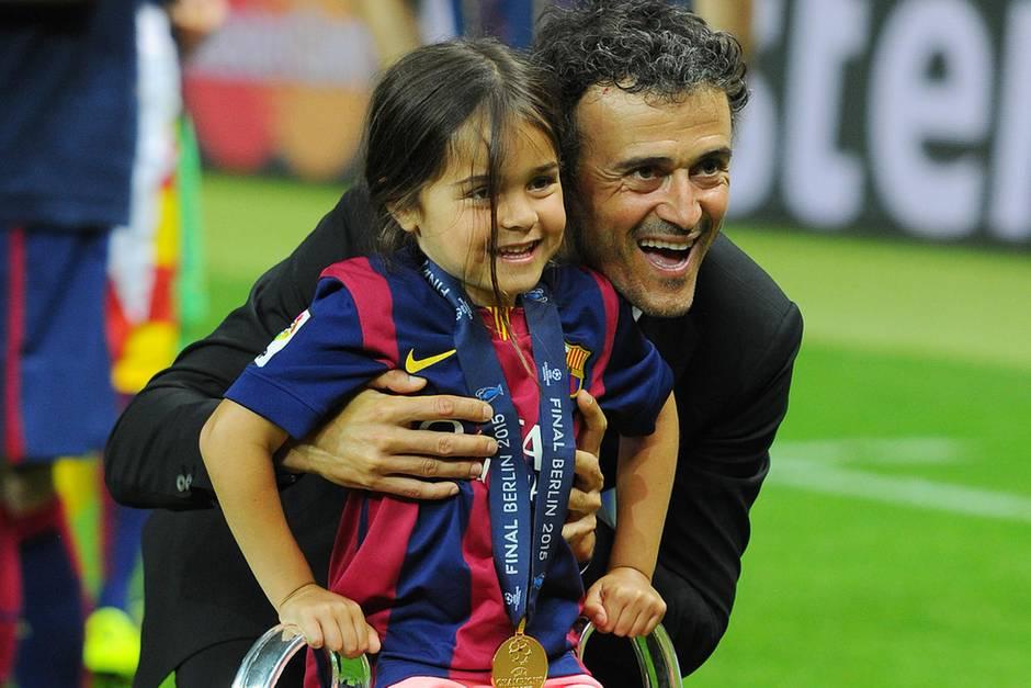 Luis Enrique und Tochter Xana