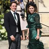 Prinzessin Beatrice und FreundEdoardo Mapelli Mozzi haben sich farblich abgestimmt, beidetragen ein dunkles Grün.