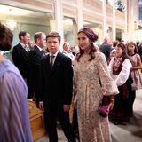 Prinzessin Mary und Prinz Christianverlassen nach der Konfirmation die Kirche.