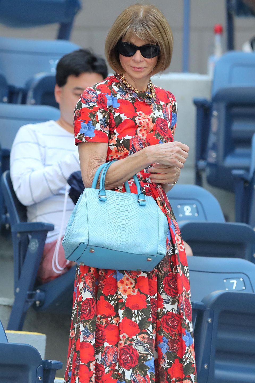 Elegant wie eh und je zeigt sich Anna Wintour bei den diesjährigen US Open in New York.