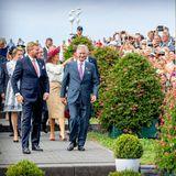 31. August 2019  Mit hunderten von Zuschauern feiern die Königspaare Willem-Alexander und Máximaund Philippe und Mathilde von Belgien im holländischen Terneuzen den 75. Jahrestag derBefreiung der Niederlande.