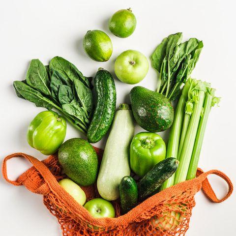Mit dem Obst- und Gemüsenetz zum einkaufen