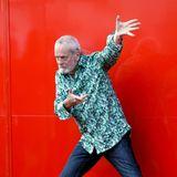 """Anlässlich der Premierenfeier von """"Happy Birthday"""" bleibt Terry Gilliam, Mitbegründer der legendären Monty Python Komikergruppe,seinem komischenImage treu."""