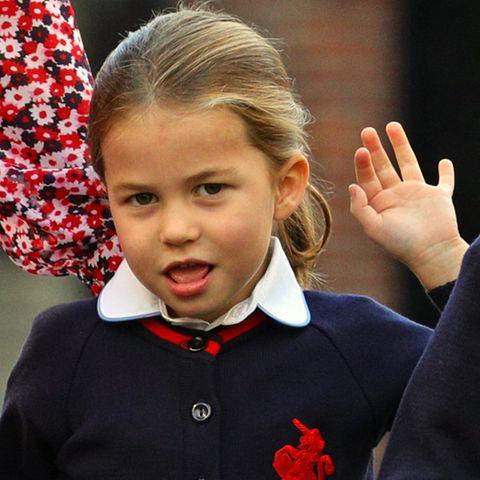 Geschafft: Jetzt kann für Prinzessin Charlotte der erste Schultag beginnen.